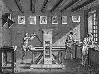 old printing press