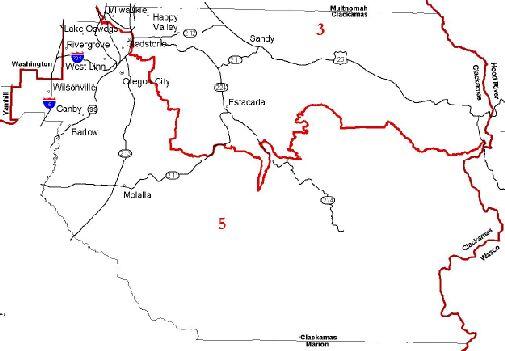 Clackamas County map