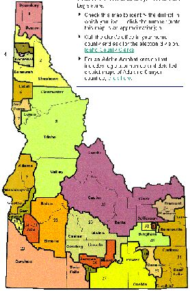 Idaho legislative districts