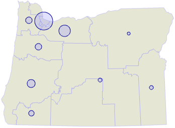 Oregon presidential contributions