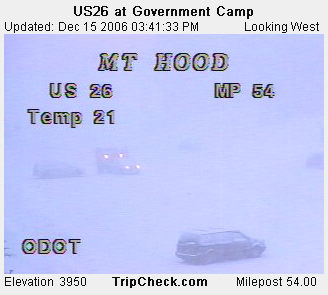 Government Camp - ODOT roadcam photo