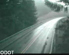 rain on an Oregon highway