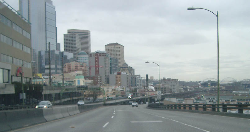 Alaskan Way north of downtown