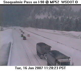 Snoqualmie Pass this morning