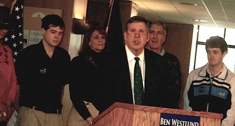 Ben Westlund at the treasurer announcement