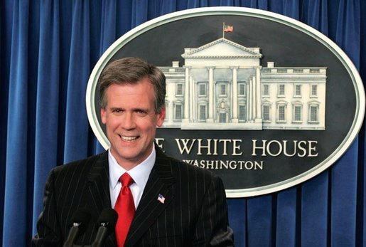 Tony Snow at the White House